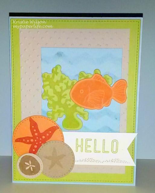 Card 5-May 2014 MFT Sea Life Hello