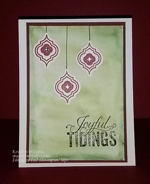 2014 Card 101 - SU Mosaic Madness Christmas Messages CIJ 4 Watercolor