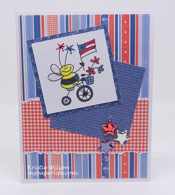 2015 Card 58 - Stampendous Biker Bee