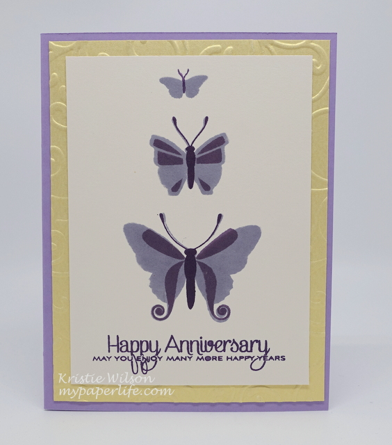 2015 Card 75 - Papertrey Ink Beautiful Butterflies