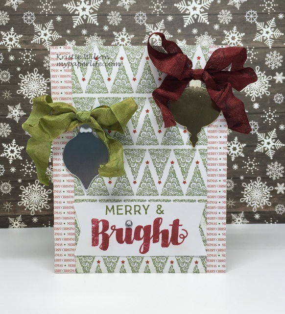 2015 Card 135 - MFT Joyous Holiday Sentiments and Christmas Ornaments