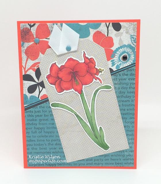 2016 Card 3 - Technique Tuesday Amaryllis