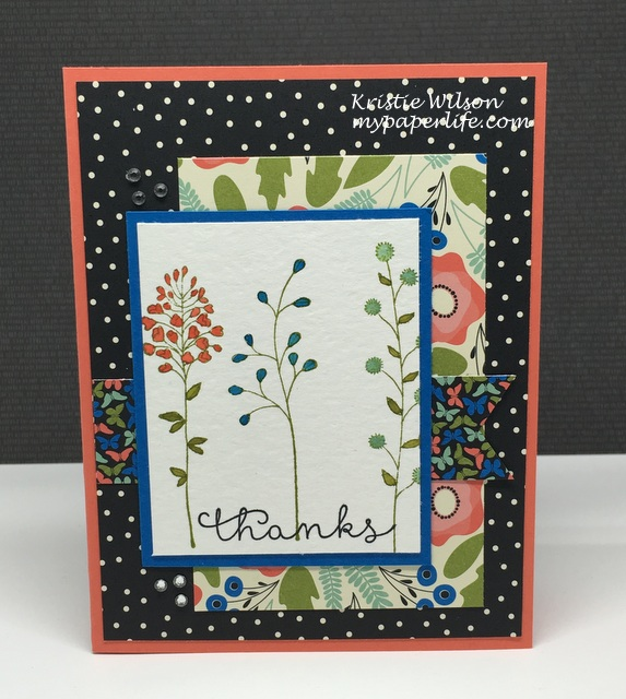 2016 Card 36 - Stampin Up Flowering Fields