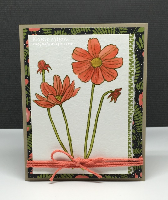 2016 Card 37 - Stampin Up Helping Me Grow