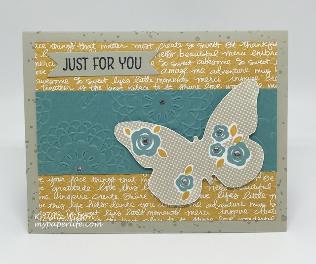 2016 Card 45 - Stampin Up Floral Wings