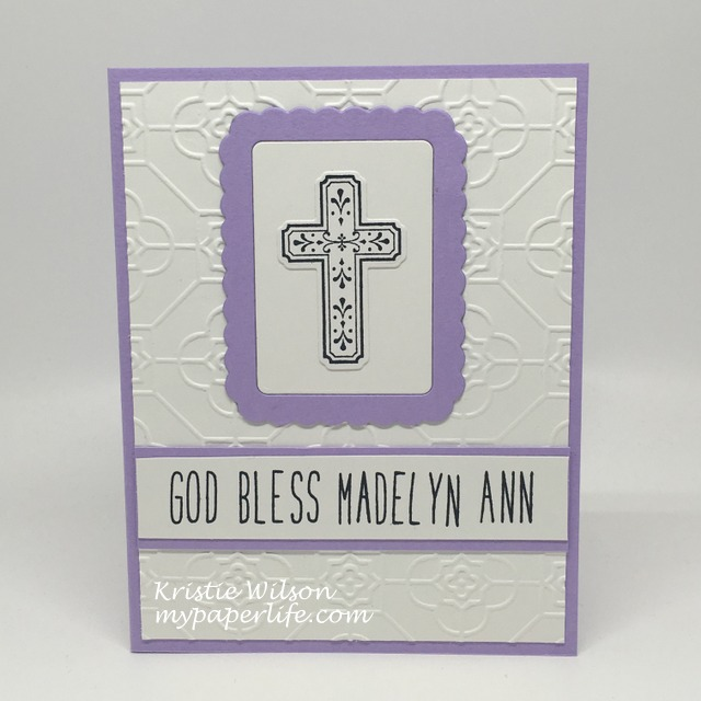 2016 Card 59 - Madelyn baptism card