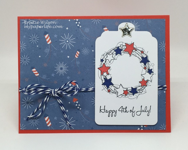 2016 Card 69 - Taylored Expressions 4th of July Wreath