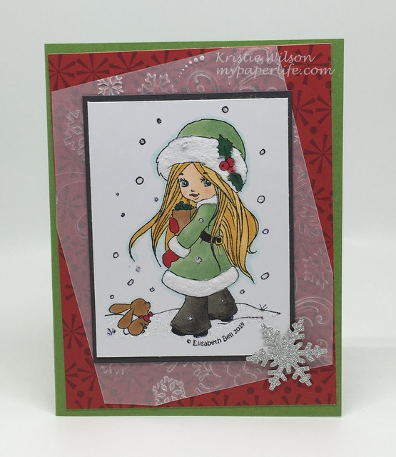 2016 Card 71 - Whimsy Stamps Snow Bunny