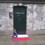 garden lodge with chilean flag