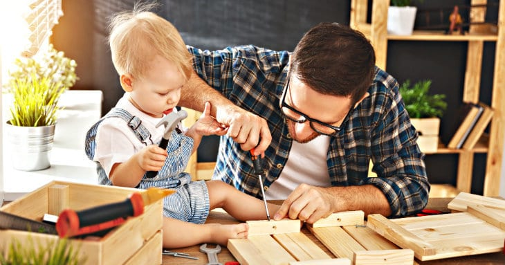 teach a toddler to use tools