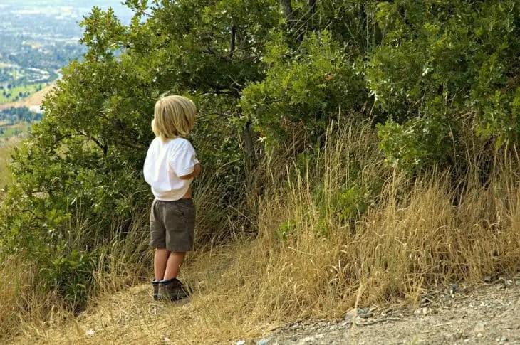 teach a boy to pee standing up