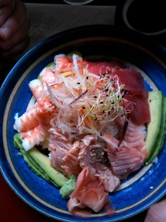 sushi sashimi rice and fish paris