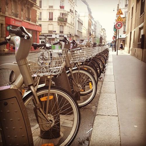 renting a bike in paris velib