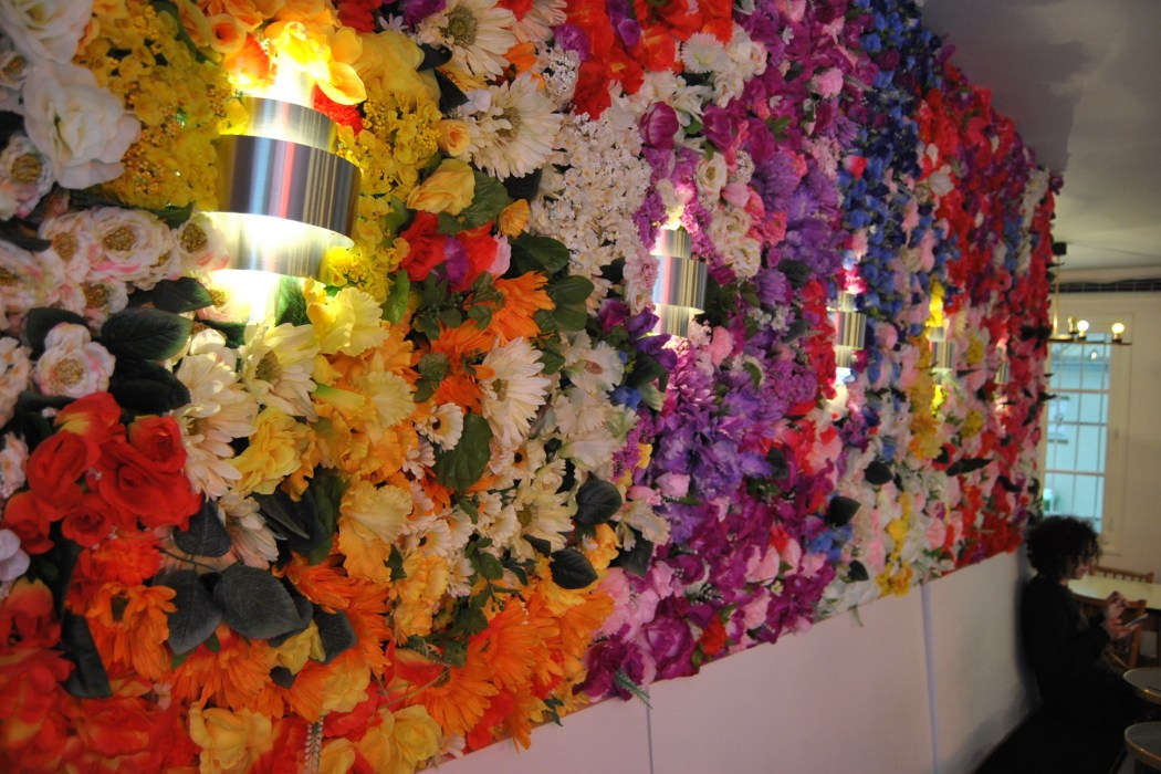decor flower wall paris