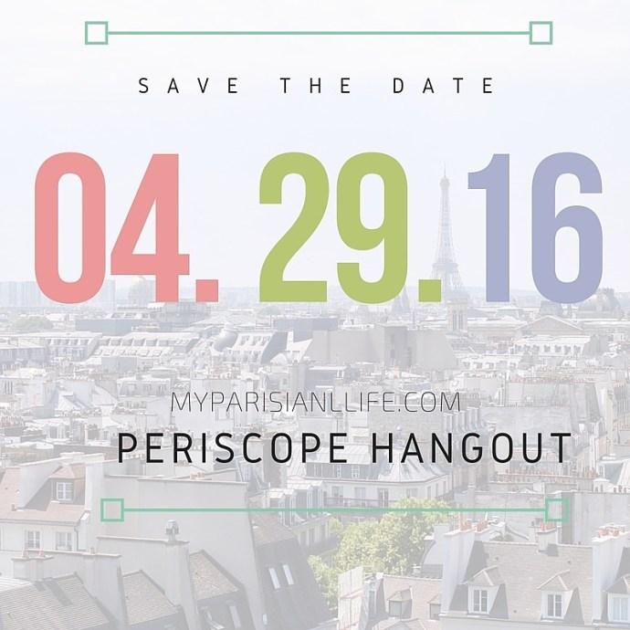 life in Paris on Periscope