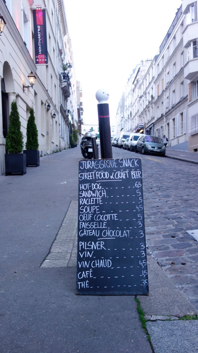 menu jurrassique paris montmarte
