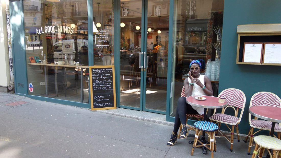 yanique sitting at all good things paris