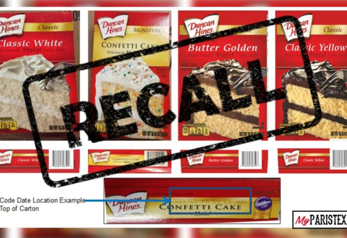 Duncan Hines Voluntarily Recalls Cakes Mixes 24 Million Boxes