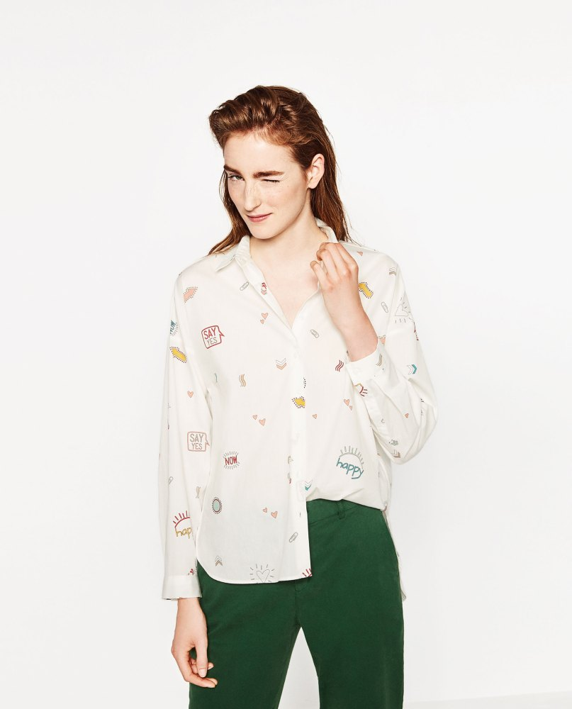 Chemise XL en popeline Zara