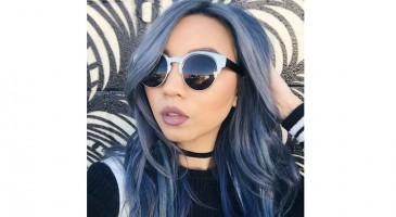 Cheveux blue jean