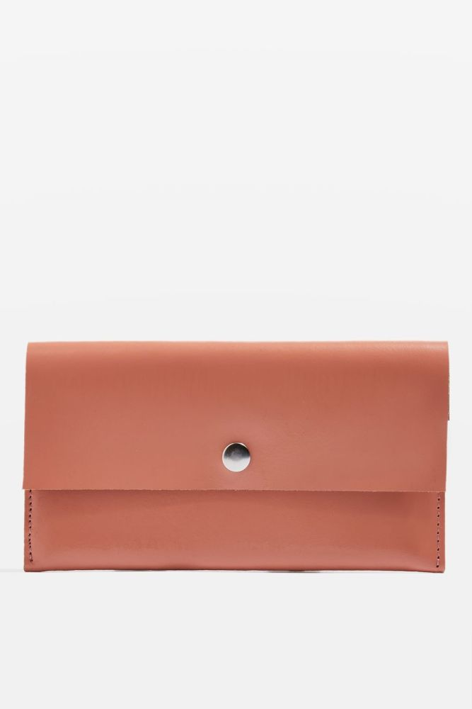 pochette-portefeuille-cuir-orange-topshop