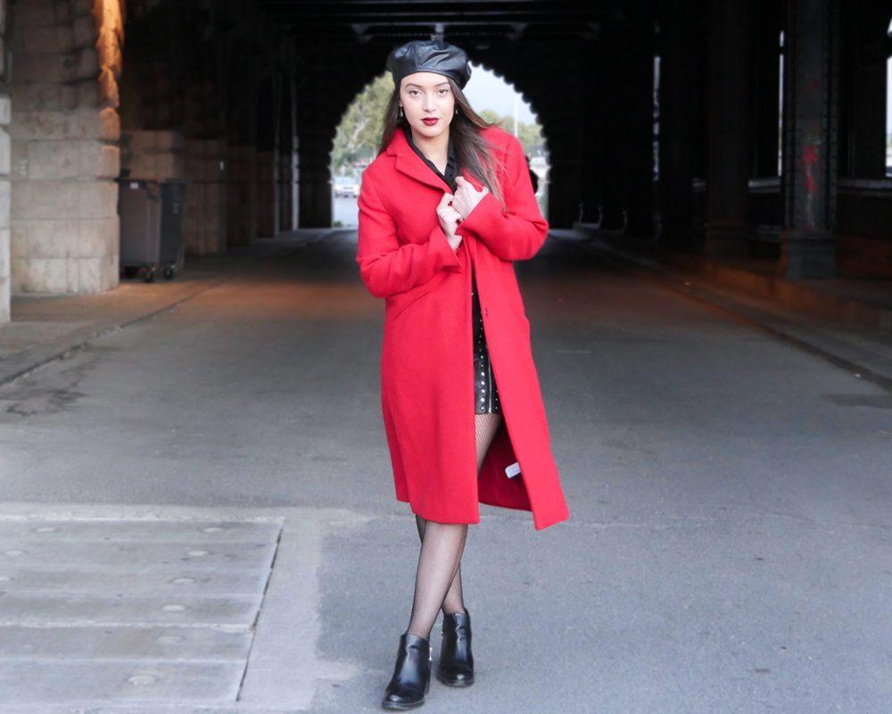 look-manteau-classe-laine-rouge