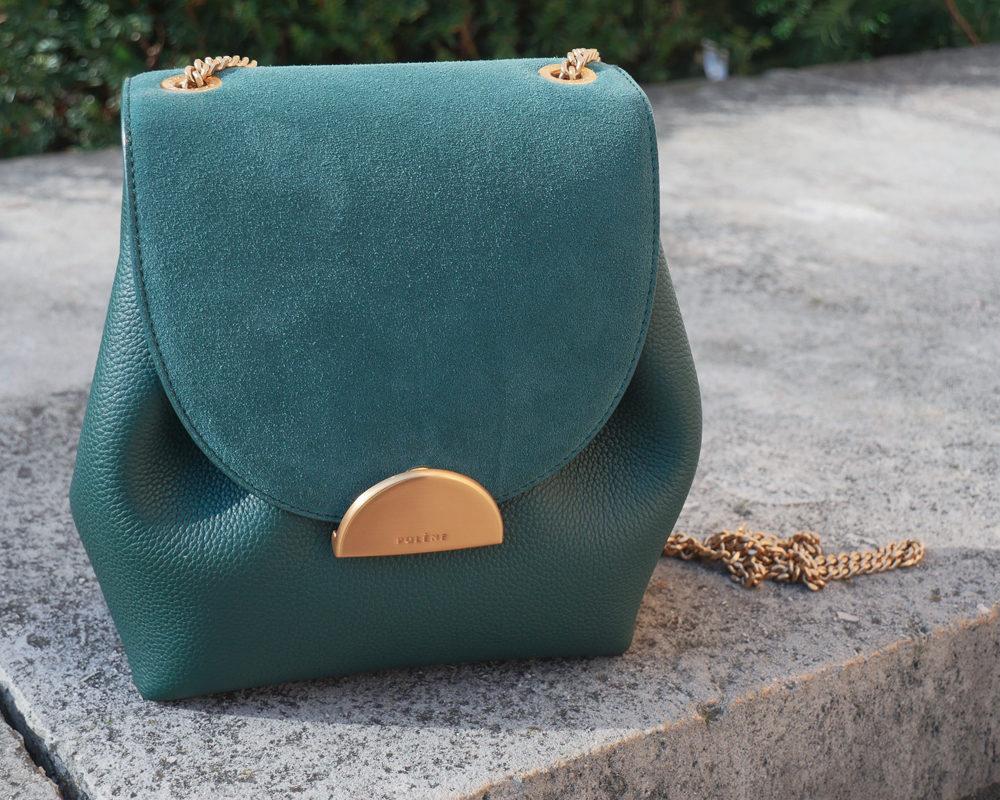 look-blazer-dress-mode-style-paris-zoom-sac-polène-numero-un-mini-vert