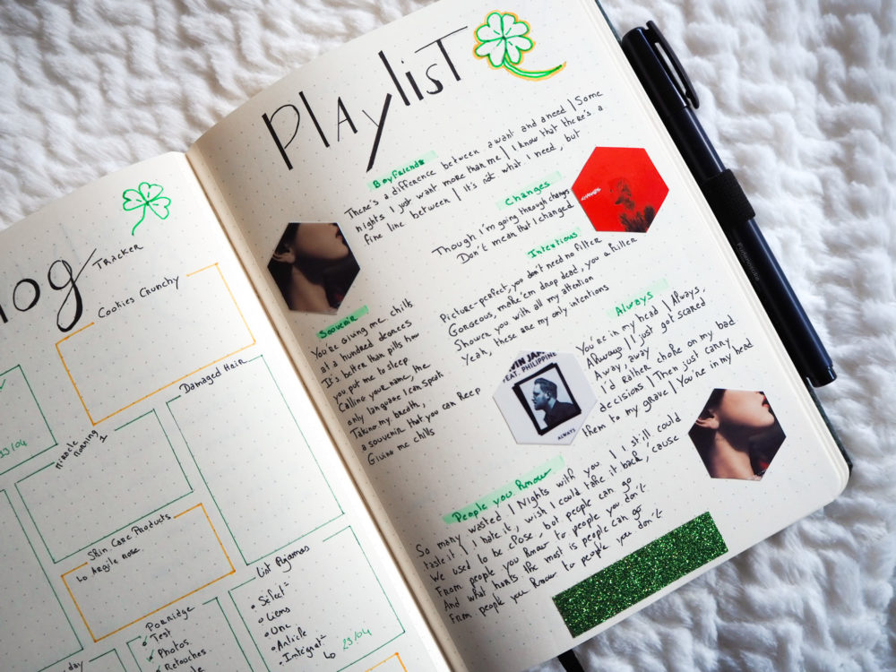 bullet-journal-avril-page-playlist-musiques