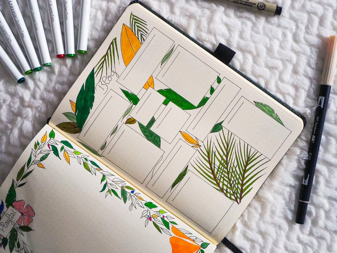bujo-juillet-blog-set-up-tropical