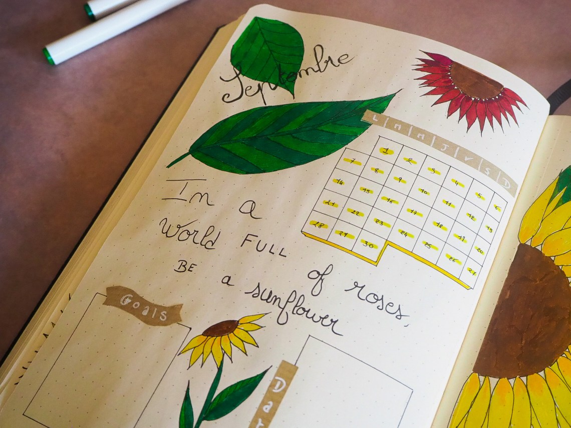 bujo-in-a-world-full-of-roses-be-a-sunflower