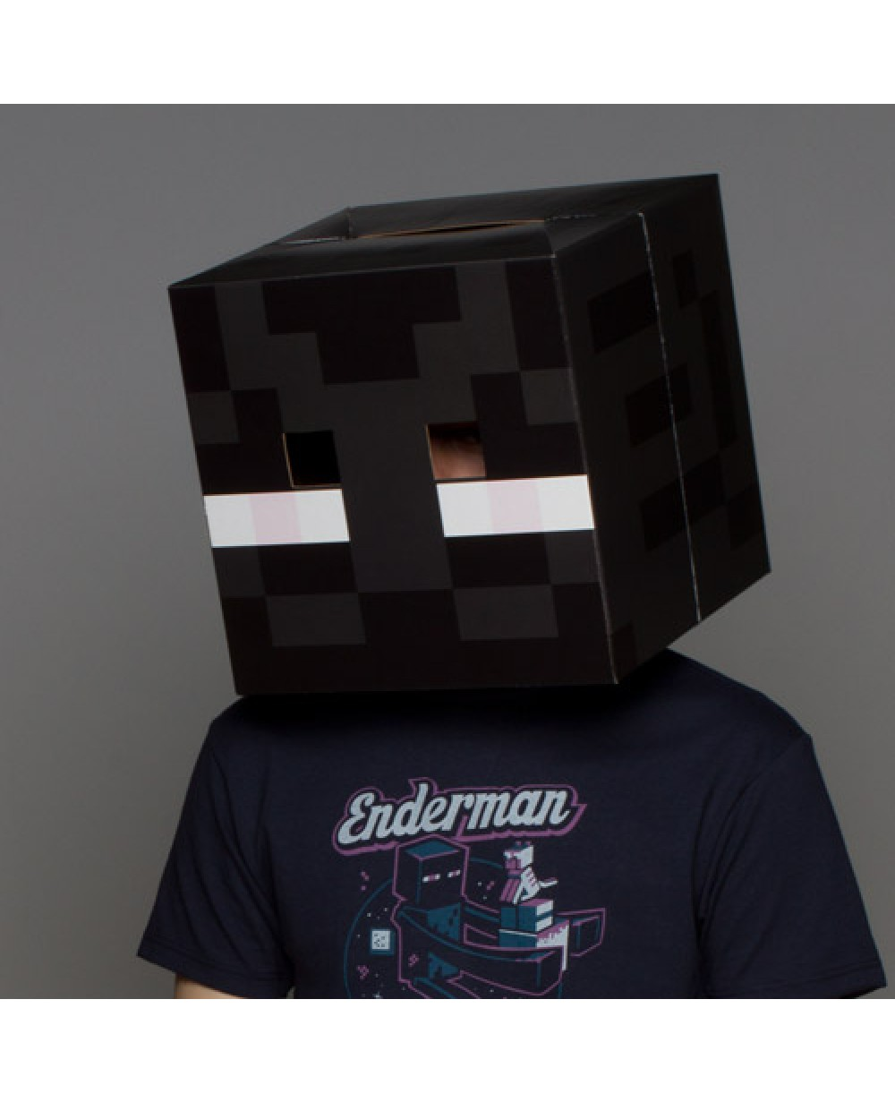 Minecraft Enderman Head Cardboard Mask