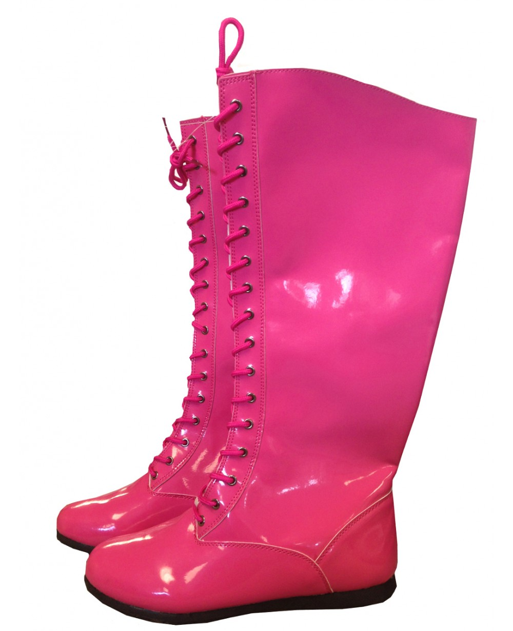 Pink Adult Wrestling Boots