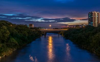 Klang river during the dawn