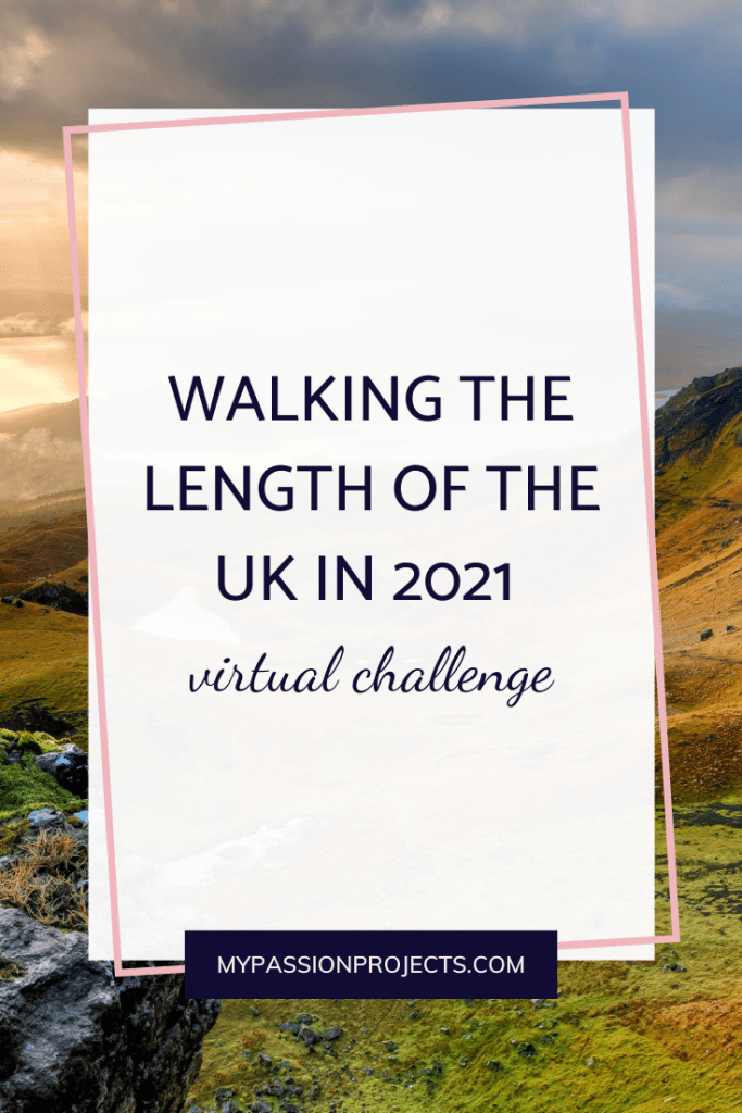 Walking the length of the UK with virtual challenges