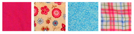 Cot quilt fabric samples