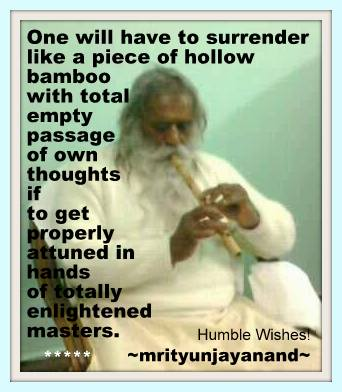 One will have to surrender....!!!