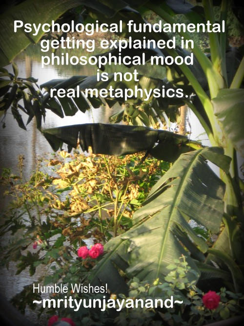 Real Metaphysics