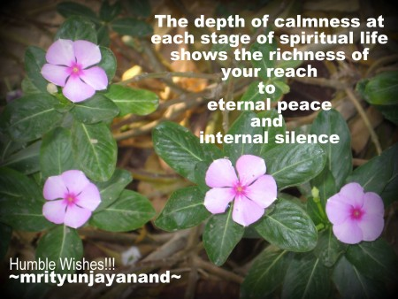 The depth of calmness...!!!