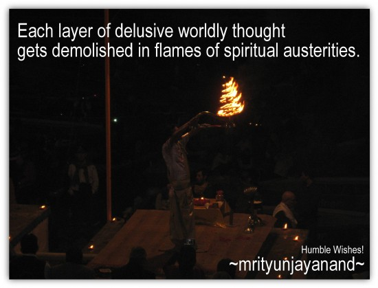 Each layer of delusive worldly thought.....!!!