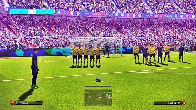 Pro Evolution Soccer 2018 Free Download Goal Image