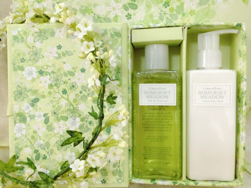 crabtree and evelyn somerset meadow body shower gel and body lotion