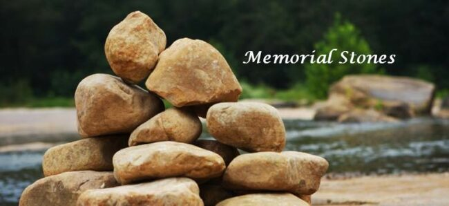 Memorial Stones for Remembering