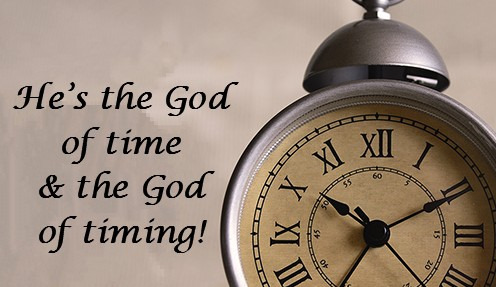 He's the God of Time & the God of Timing