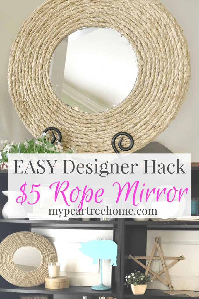 Love those rope mirrors you see everywhere? This tutorial shows you how to get the exact look for just a few dollars!! Wowza! Click to see the blog post!