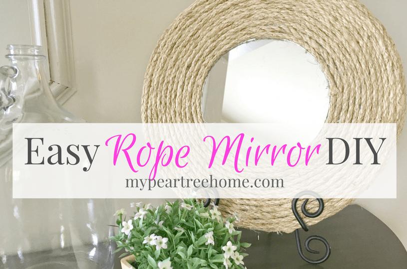 Mirror DIY, Rope Mirror, Mirror Tutorial, $5 DIY