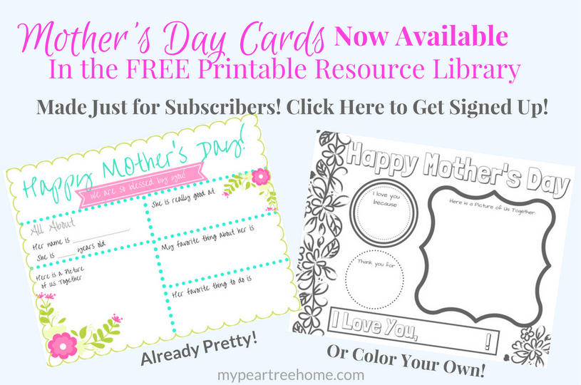 Mother's Day Printable. Mother's Day Card