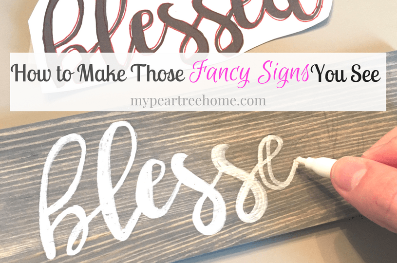 Cheater Method How To Make A Diy Sign