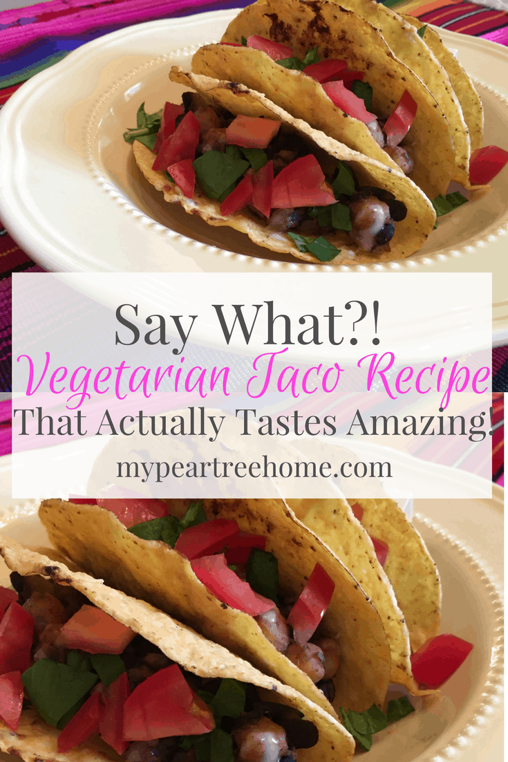 These vegetarian tacos are SO delicious you will actually FORGET that they are missing beef, are vegan, gluten free, and are healthy! Win! Click to the post to get the recipe!