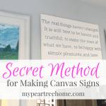 Make a Large DIY Sign on Canvas