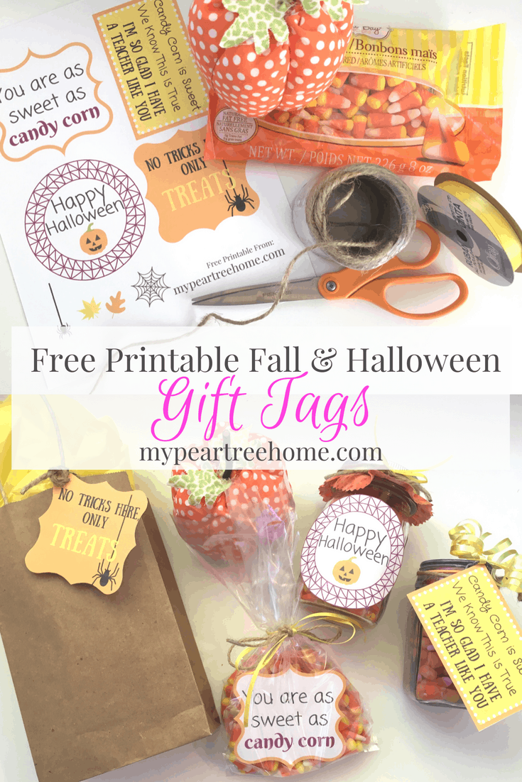 photograph about Free Printable Halloween Gift Tags named No cost Printable Halloween Reward Tags My Pear Tree Property